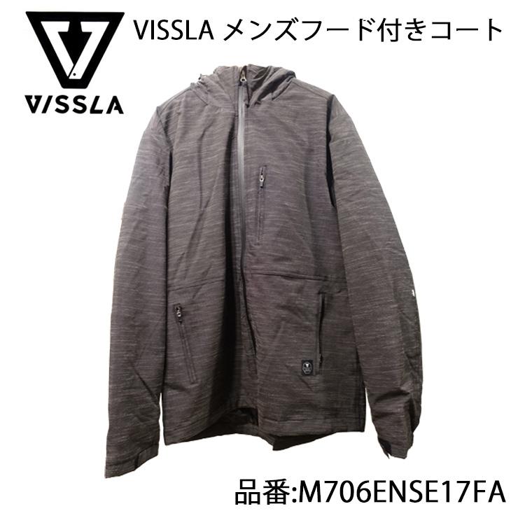 VISSLA ヴィスラ フード付きコート メンズモデル 品番 M706ENSE17FA 日本正規品
