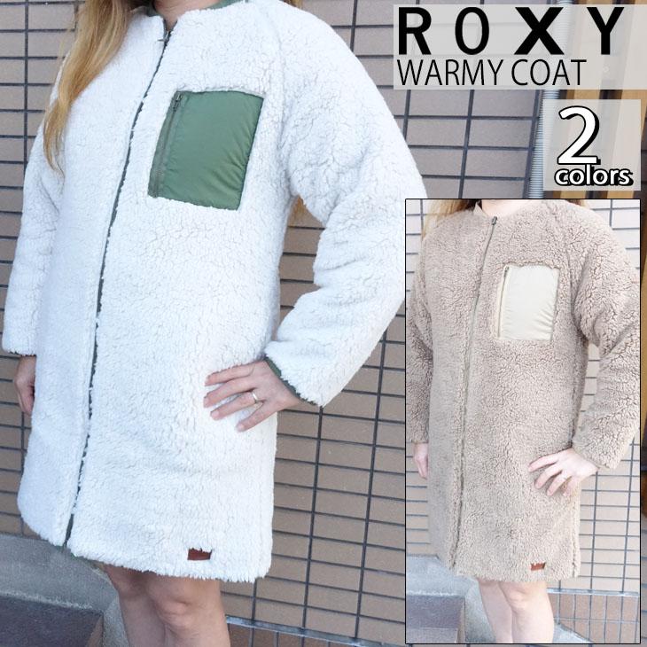 20 ROXY ロキシー ノーカラー リバーシブル ボア ジャケット WARMY COAT レディース 2020年秋冬 品番 RJK204057 日本正規品