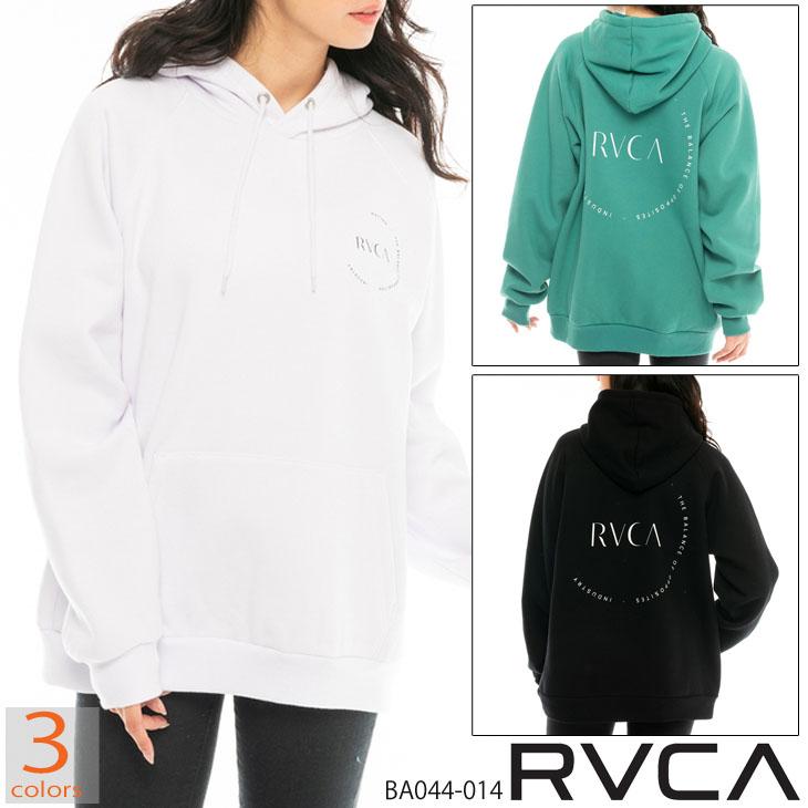 20 RVCA ルーカ ENCIRCLED HOODIE パーカー トレーナー レディース 2020年秋冬モデル 品番 BA044-014 日本正規品