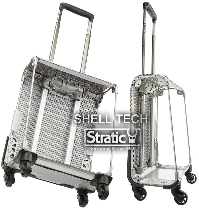 在sutoratikkusofutosutsukesu带上飞机超轻量国内正规的物品小型厉害轻的坚固的4轮德国名牌STRATIC扩充前面口袋拉链式外壳技术旅行箱覆盖物提包2.2kg家庭画报刊登时