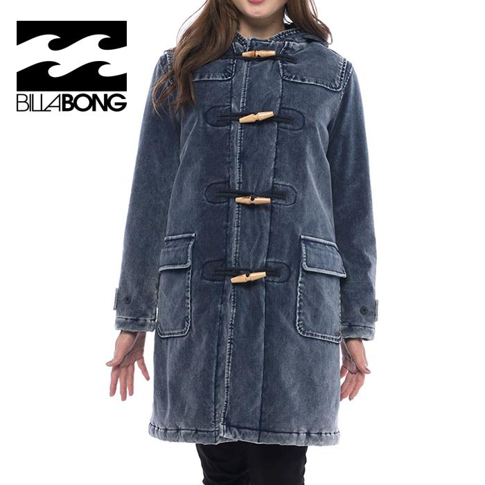 BILLABONG AJ014757 アウター ダッフルコート コート 中綿 ジャケット ウォッシュ加工 レディース