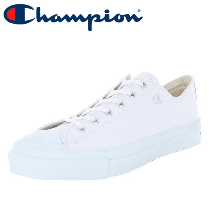 チャンピオン メンズスニーカー レザー シューズ CP LS001J スピンコートLEA ホワイト 白色