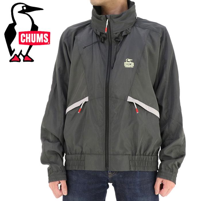 CHUMS メンズジャケット ブルゾン アウター レトロデザイン 80年代 ブルゾン ダークチャコール グレー
