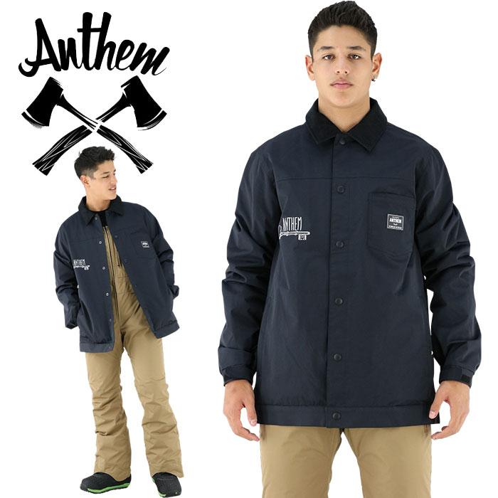 スノーウエア アンセム コーチジャケット ANTHEM ブラック 黒 バックプリント ビッグプリント ジャケット