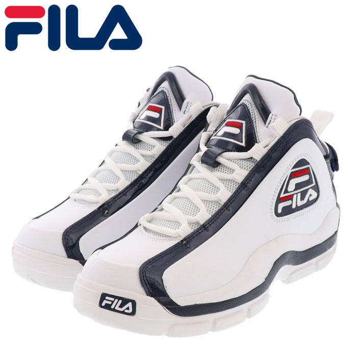 フィラ メンズ レディース スニーカー 96 グラントヒル シューズ F0313-0125 白 ホワイト ネイビー レッド