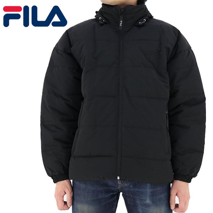 FILA アウター メンズジャケット 中綿 ジャケット ヘリテージ 黒 ブラック FM 9693