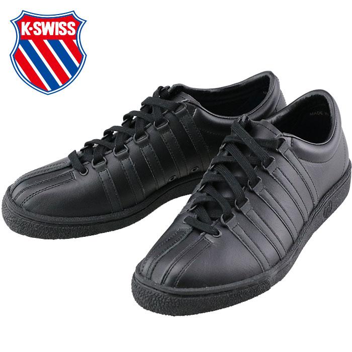 ケースイス レザーシューズ レザースニーカー クラシック66 ブラック K・SWISS CLASSIC66 JPN 即納 ローカット 人気ブランド ケイスイス