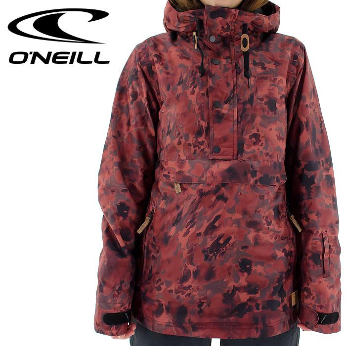 毎日がバーゲンセール あす楽 O'NEILL 期間限定の激安セール オニール スノーボードウェア レディース RED ONEILL スノーウェア スノージャケット スノボジャケット プルオーバー 685106