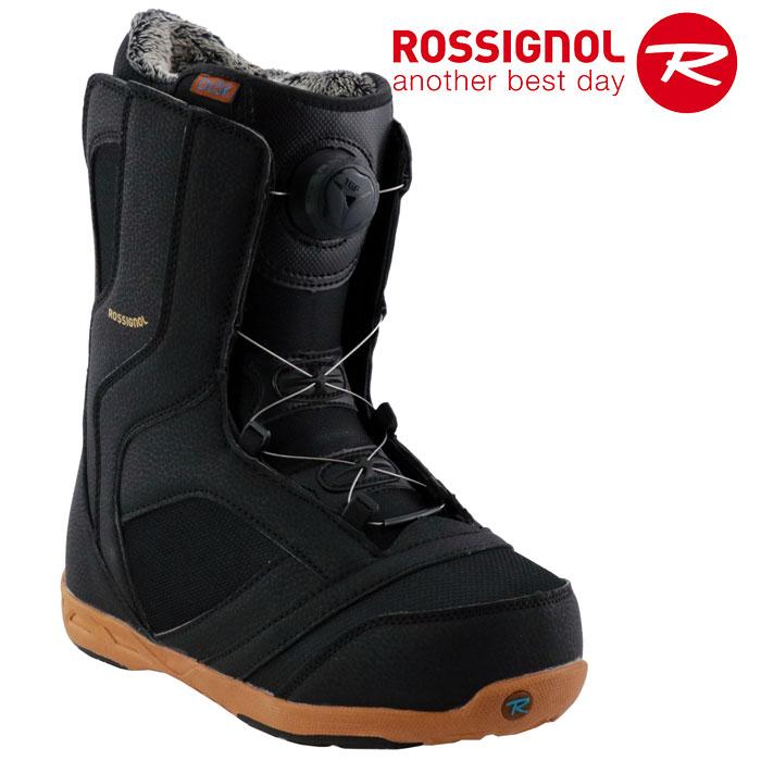 ロシニョール かんたん着脱 TGFダイヤル式 スノーボード ブーツ ROSSIGNOL DUSK TGF レディース スノボ 黒