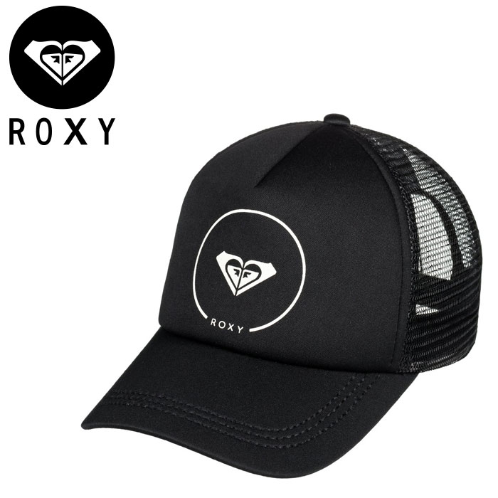 あす楽 ロキシー スナップバックキャップ サーフブランドロゴ レディース ROXY メッシュキャップ 再再販 帽子 黒 TRUCKIN ERJHA03315 5パネルキャップ 売却 ブラック