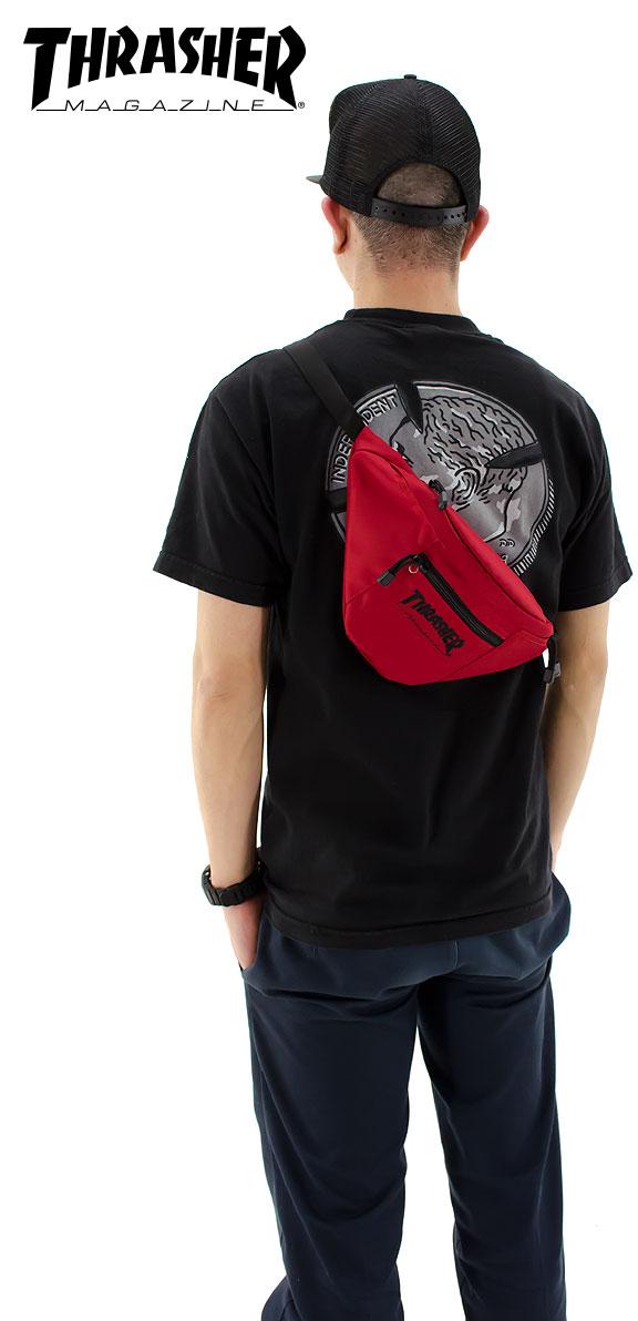 THRASHER腰包BAG pochisurasshabodibaggu包THRPC200小型滑板简单