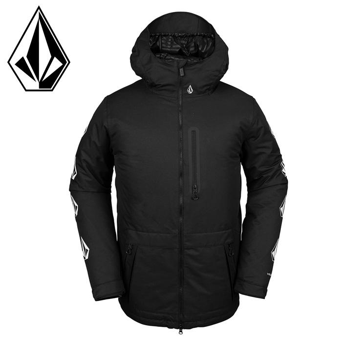 ボルコム ジャケット メンズ スノーウェア スノボ-ド ウェアー ブラック 黒色 G0652010