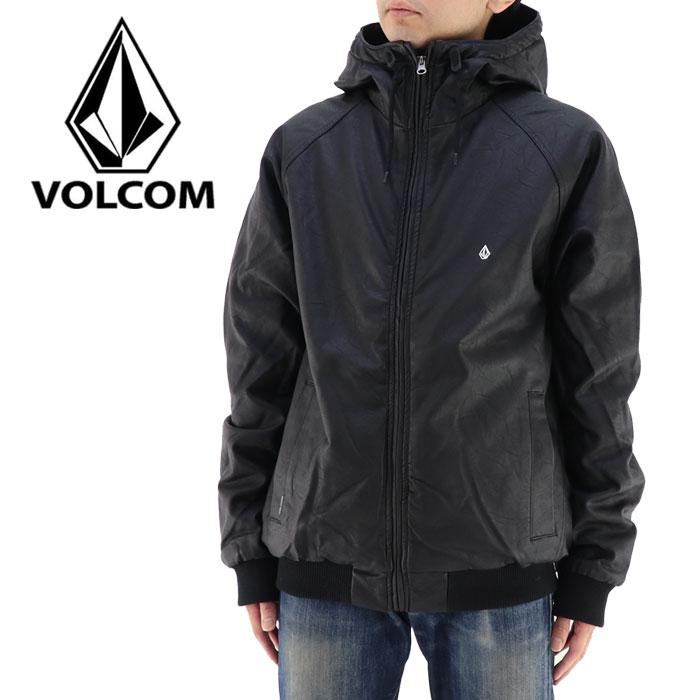 VOLCOM ボルコム メンズジャケット 黒 ブラック 100%PU アウター カジュアル ヘビーウェイトジャケット 通販 販売 即納 人気