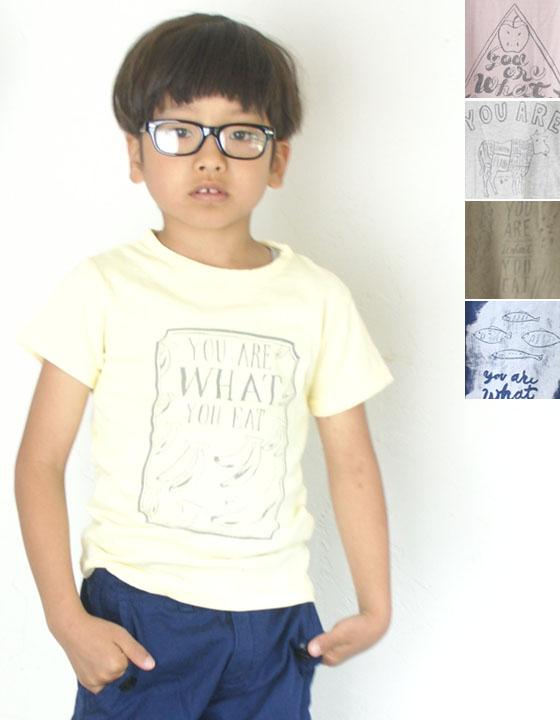 "TENNNET JAPAN(tennejapan)Chalk Boy原始物T恤""You are what you eat"""