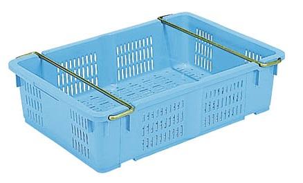 メッシュコンテナー ボックス 保管 配送容器 メッシュ収納ボックス ランキング総合1位 いつでも送料無料 ≪外寸:660x442x171mm≫ ケースA#38 ハンドル付き