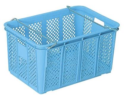メッシュコンテナー ボックス 保管 配送容器 最新号掲載アイテム 新品未使用 メッシュ収納ボックス ケースA#80 ハンドル付き ≪外寸:664x468x333mm≫