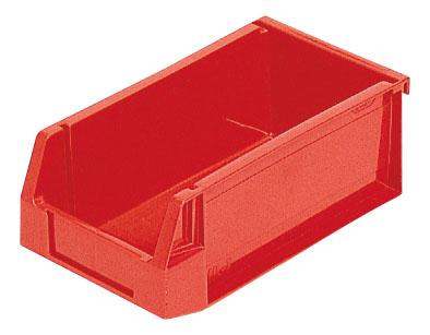 全面ベタ目の多目的収納箱 積み重ねのできる収納箱 赤い箱 即納最大半額 人気急上昇 収納ケースHL-1≪外寸:201x112x75mm≫ 収納ボックス 不良品を入れる箱