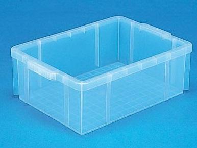 全面ベタ目の多目的収納箱 積み重ねのできる収納箱 捧呈 収納ボックス 収納ケース#23-3 希望者のみラッピング無料 透明 ≪外寸:525x367x168mm≫