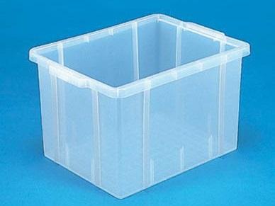 全面ベタ目の多目的収納箱 積み重ねのできる収納箱 捧呈 収納ボックス 公式ストア 収納ケース#31 透明 ≪外寸:479x355x270mm≫