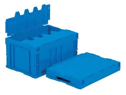 箱 物入れ 超激安特価 プラスチック 収納 ケース サンクレットオリコン40B≪外寸:538x366x284mm≫ 折りたたみ収納ボックス 配送容器 保管 折りたたみ収納ケース 低価格
