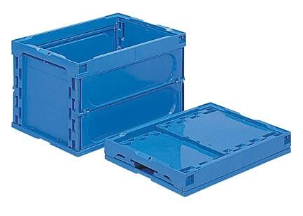 箱 物入れ プラスチック 収納 ケース 折りたたみ収納ケース 折りたたみ収納ボックス 配送容器 永遠の定番 オリコン50B-M≪外寸:530x366x322mm≫ セール品 保管