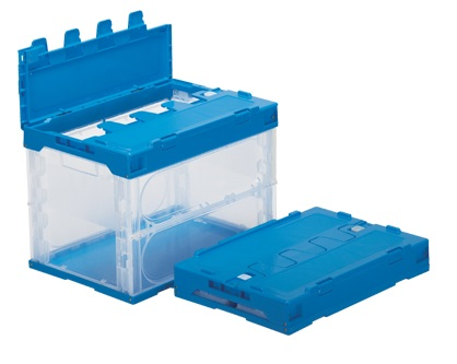 箱 物入れ プラスチック 全商品オープニング価格 入手困難 収納 ケース 保管 ≪外寸:530x366x397mm≫ 配送容器 サンクレットオリコン60B-B 折りたたみ収納ケース 透明 折りたたみ収納ボックス