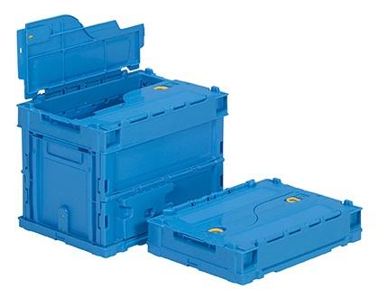 箱 物入れ プラスチック 収納 ケース 販売実績No.1 サンクレットオリコンP19B≪外寸:366x264x281mm≫ 保管 折りたたみ収納ボックス 新作多数 折りたたみ収納ケース 配送容器
