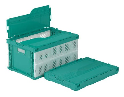安全 バースデー 記念日 ギフト 贈物 お勧め 通販 箱 物入れ プラスチック 収納 ケース 配送容器 ペタンコC-41A≪外寸:530x366x281mm≫ 折りたたみ収納ボックス 保管 折りたたみ収納ケース
