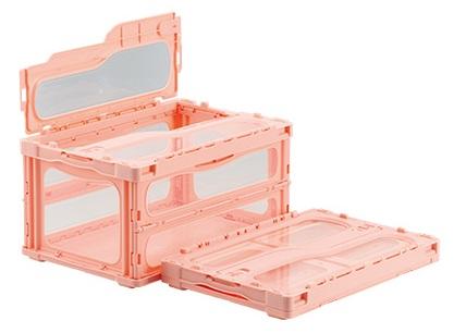 箱 物入れ 新品未使用正規品 プラスチック 低廉 収納 ケース 折りたたみ収納ボックス マドコンライトC-40B≪外寸:530x366x283mm≫ 配送容器 折りたたみ収納ケース 保管
