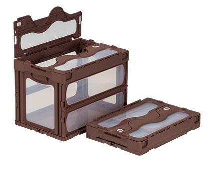 箱 物入れ プラスチック 収納 ストア ケース 折りたたみ収納ケース 保管 折りたたみ収納ボックス マドコンC-60B≪外寸:530x366x389mm≫ 配送容器 セットアップ