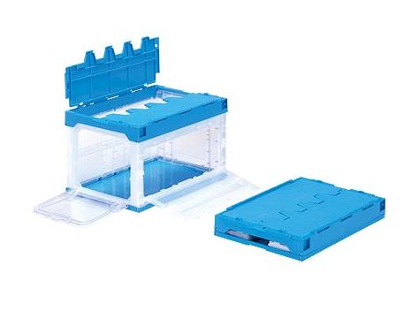 箱 物入れ プラスチック 収納 安心の定価販売 ケース 保管 配送容器 ≪外寸:538x366x334mm≫ 折りたたみ収納ケース 10%OFF 長短側扉 折りたたみ収納ボックス サンクレットオリコンラック50B