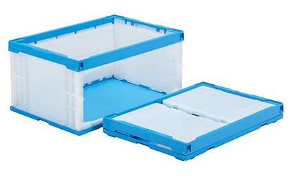 箱 物入れ プラスチック スーパーセール期間限定 収納 値引き ケース 保管 ≪外寸:649x439x327mm≫ 折りたたみ収納ボックス オリコンラックP75B-D 長側扉なし 配送容器 折りたたみ収納ケース
