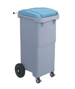 ゴミ箱 供え リサイクル 収集 運搬 ゴミ収集カート110リットル4輪キャスター SCB110P 全国どこでも送料無料 ≪外寸:483x573x970mm≫