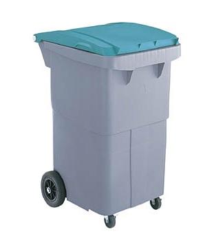 ゴミ収集カート200リットル4輪キャスター(SCB200P)≪外寸:595x698x1013mm≫