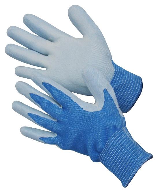 爆安 耐切創手袋 アトム HG-182 ニトリルコートブルー 10双 定番キャンバス カットレベル5 ツヌーガ Sサイズ 10ゲージ