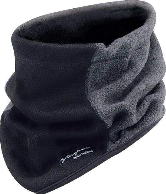 迅速な対応で商品をお届け致します 防風 保温 発熱サーモ 大好評です ネックウォーマー JW-124 おたふく ブラックxグレー