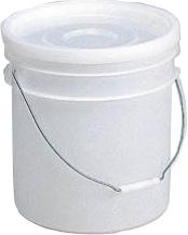 バケツ ペール 液体 粉末 生ごみ 密閉 通常便なら送料無料 ≪外寸:329φx332mm≫ 19.6L ハンドル付 新作多数 フタセット サンペール#20本体