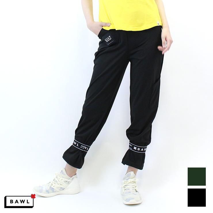 【BAW-W010367B】 BAWL ボウル ロゴバンド ロングパンツ BLACK OLIVE XSサイズ Sサイズ Mサイズ 海外 フィットネスウェア ズンバウェア la body レディース ピラティス ヨガ エアロウェア ロゴアイテム DANCEWEAR BOTTOMS