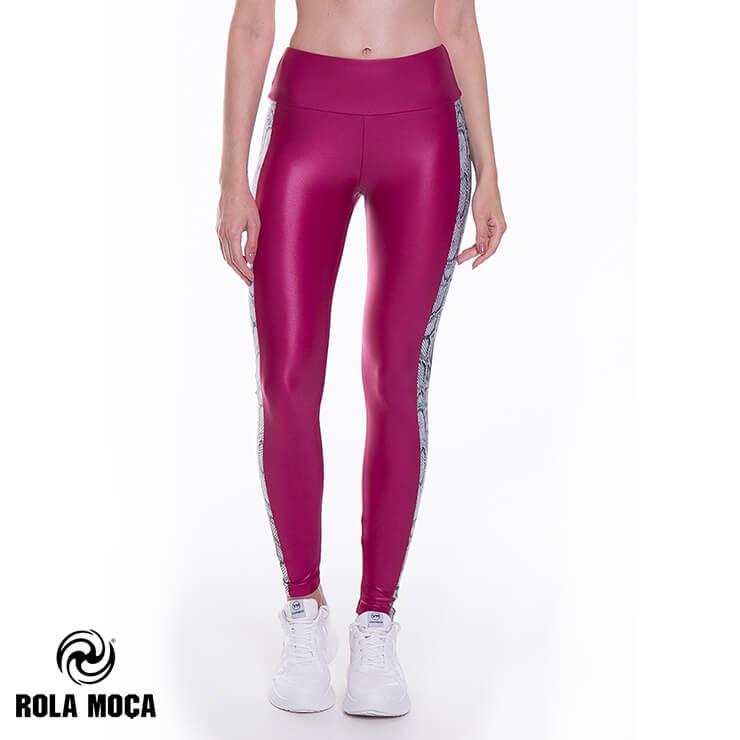 8月発売新作 【RM6483】 ROLA MOCA ローラモサ サイドスネーク レギンス PURPLE Sサイズ Mサイズ