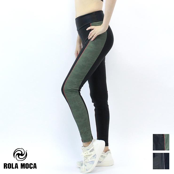 【RM6400】 ROLA MOCA ローラモサ カモライン レギンス BLACK/BLACK BLACK/OLIVE Sサイズ Mサイズ 海外 la body フィットネス ウェア zumbaウェア レディース