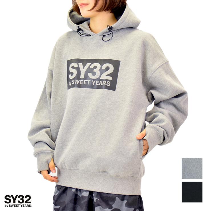 トレーニングウェア SY32 by SWEET YEARS エスワイ32 ユニセックス 無料 フーディー 専門店 ビッグシルエット Mサイズ BLACK Lサイズ ボックスロゴ GRAY Sサイズ XLサイズ