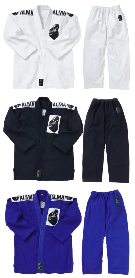 ALMA 国産柔術衣 白 黒 青 A3 A4 A5号【strongsports】