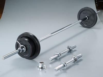 ラバーバーベルダンベルセット35kg【マーシャルワールド製 格闘技 空手 筋トレ 器具 フィットネス】【strongsports】