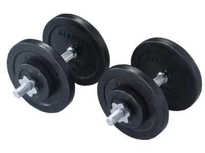 ラバーダンベルセット30kg【マーシャルワールド製 格闘技 空手 筋トレ 器具 フィットネス】【strongsports】
