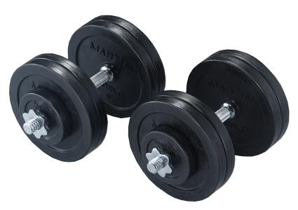 ラバーダンベルセット50kg【マーシャルワールド製 格闘技 空手 筋トレ 器具 フィットネス】【strongsports】