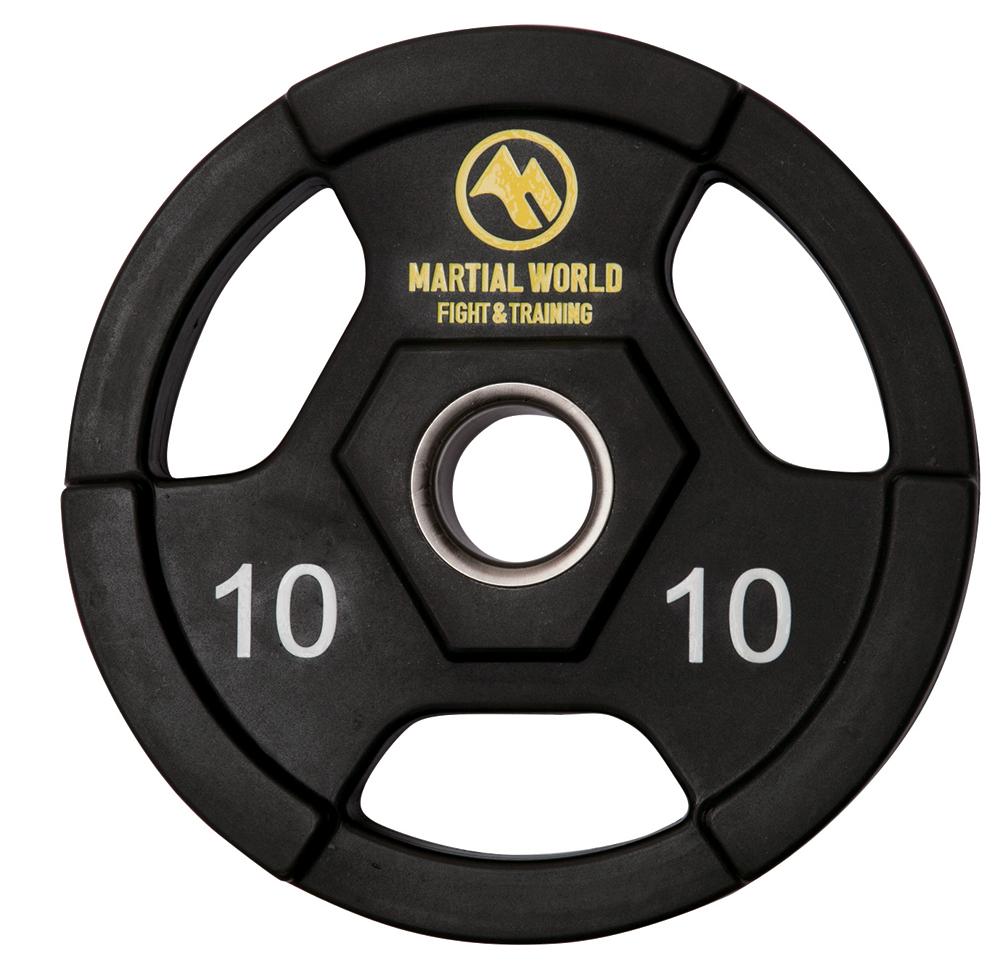 PUオリンピックプレート10kg【マーシャルワールド製 格闘技 空手 筋トレ 器具 フィットネス】【strongsports】