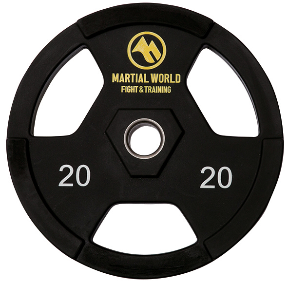 PUオリンピックプレート20kg【マーシャルワールド製 格闘技 空手 筋トレ 器具 フィットネス】【strongsports】