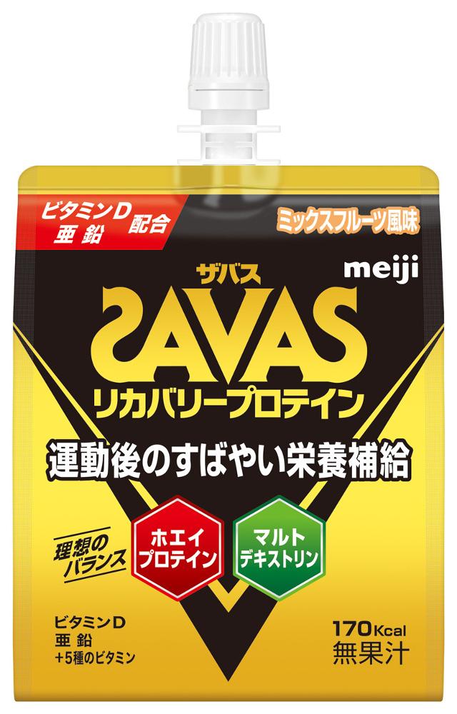 SAVAS(ザバス) リカバリープロテインゼリー 180g×30個 ミックスフルーツ風味 プロテイン strongsports