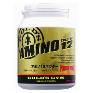 【送料無料】GOLD'S GYM(ゴールドジム)アミノ12パウダー 500g【strongsports】