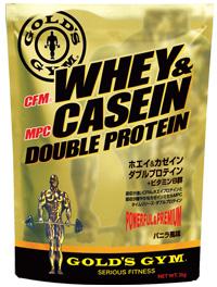 【送料無料】GOLD'S GYM(ゴールドジム)ホエイ&カゼインダブルプロテイン バニラ風味 2kg【strongsports】